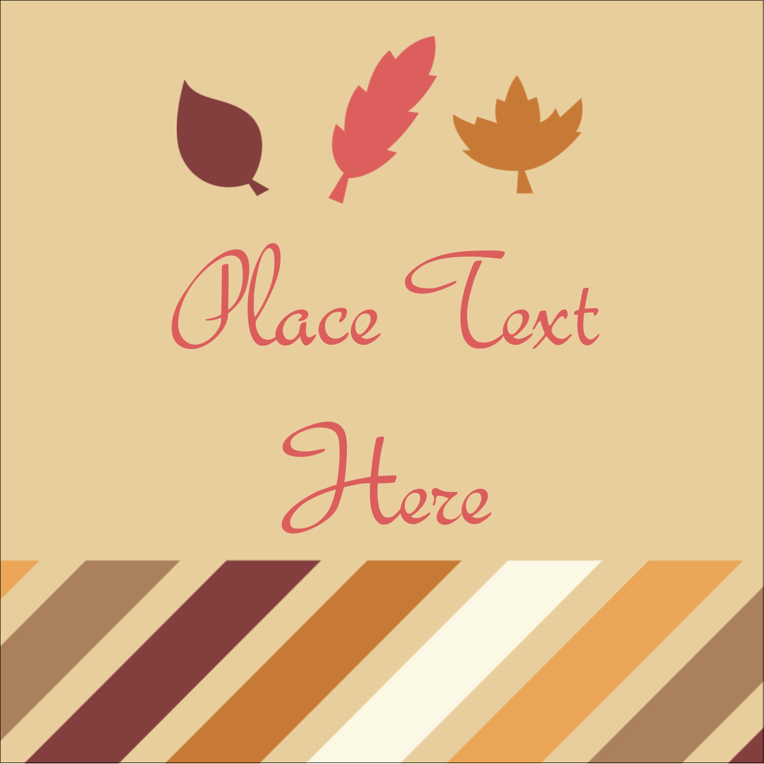 "1½"" x 1½"" Square Label - Thanksgiving Fall Feathers"