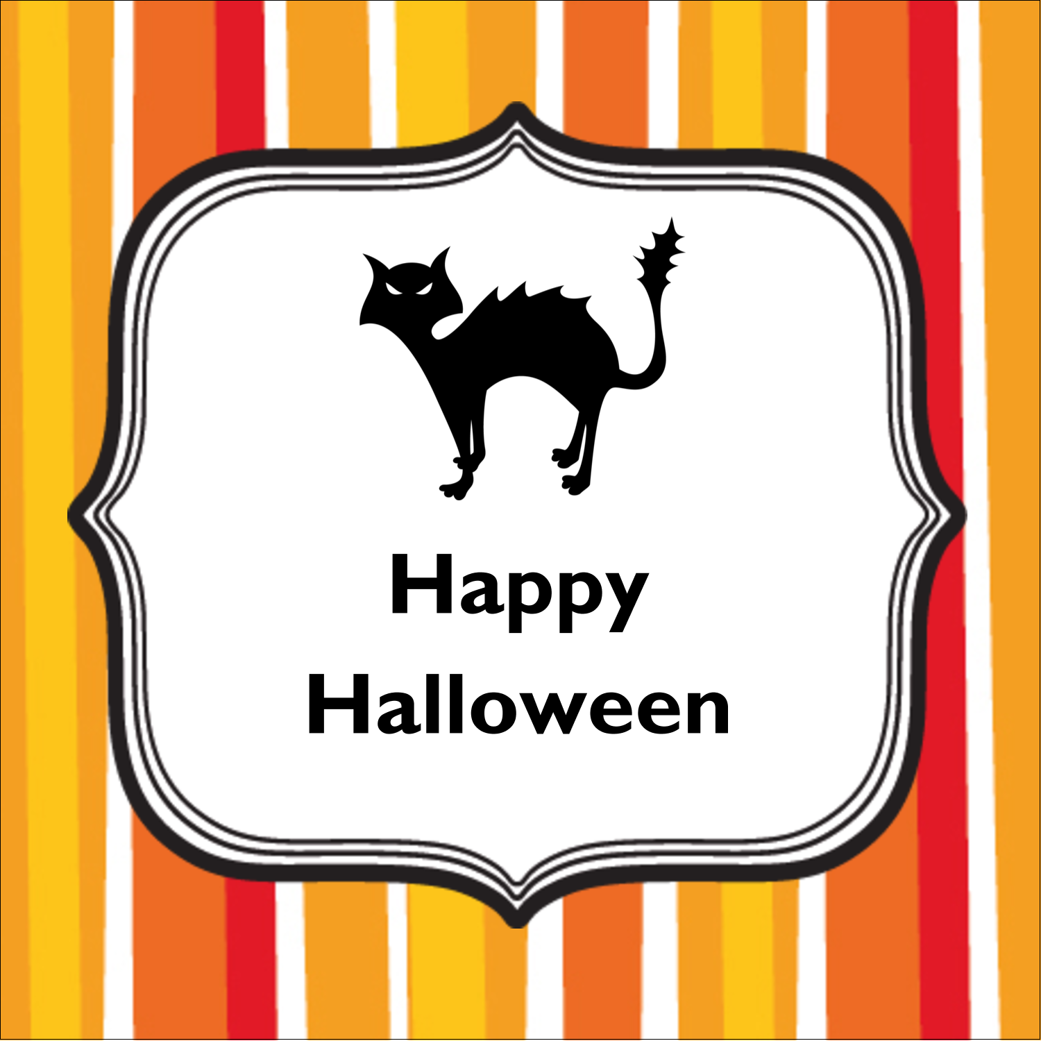 "1½"" x 1½"" Square Label - Kiddie Halloween"