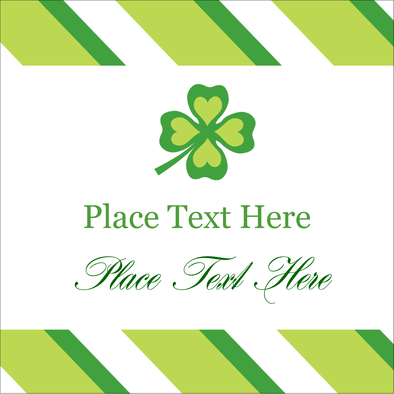 "2"" x 2"" Square Label - St. Patrick"