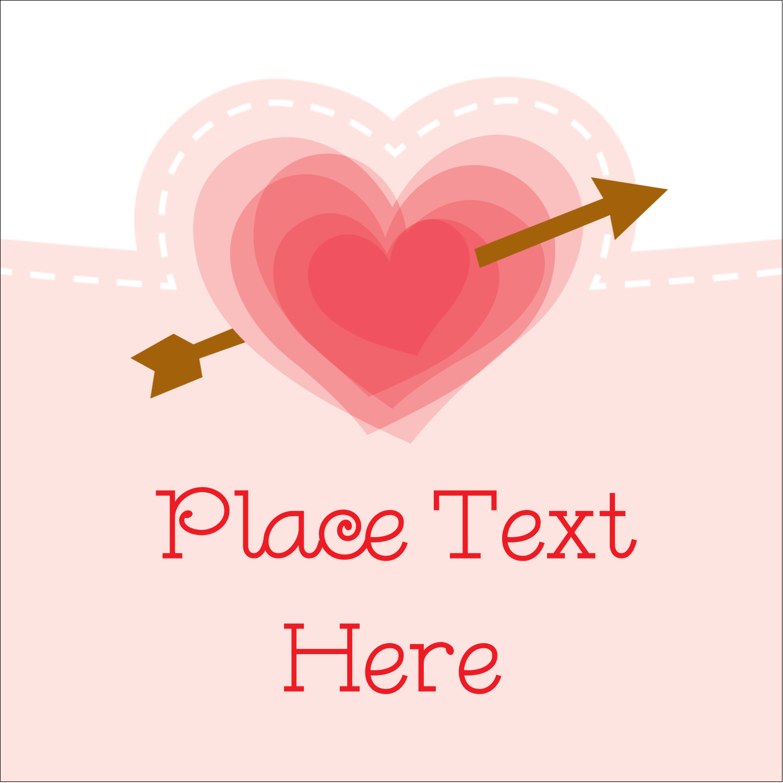 "2"" x 2"" Square Label - Valentine's Day"