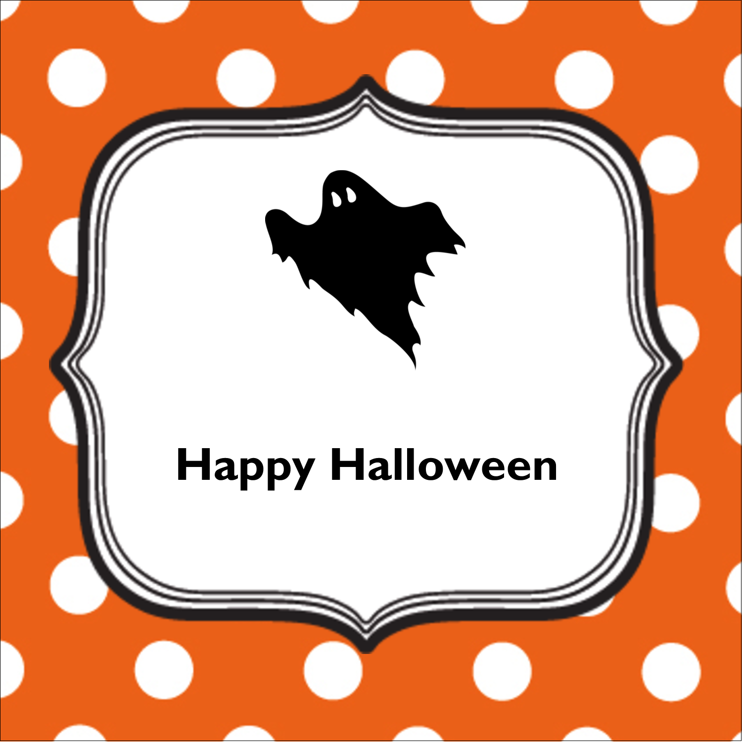 "2"" x 2"" Square Label - Kiddie Halloween"