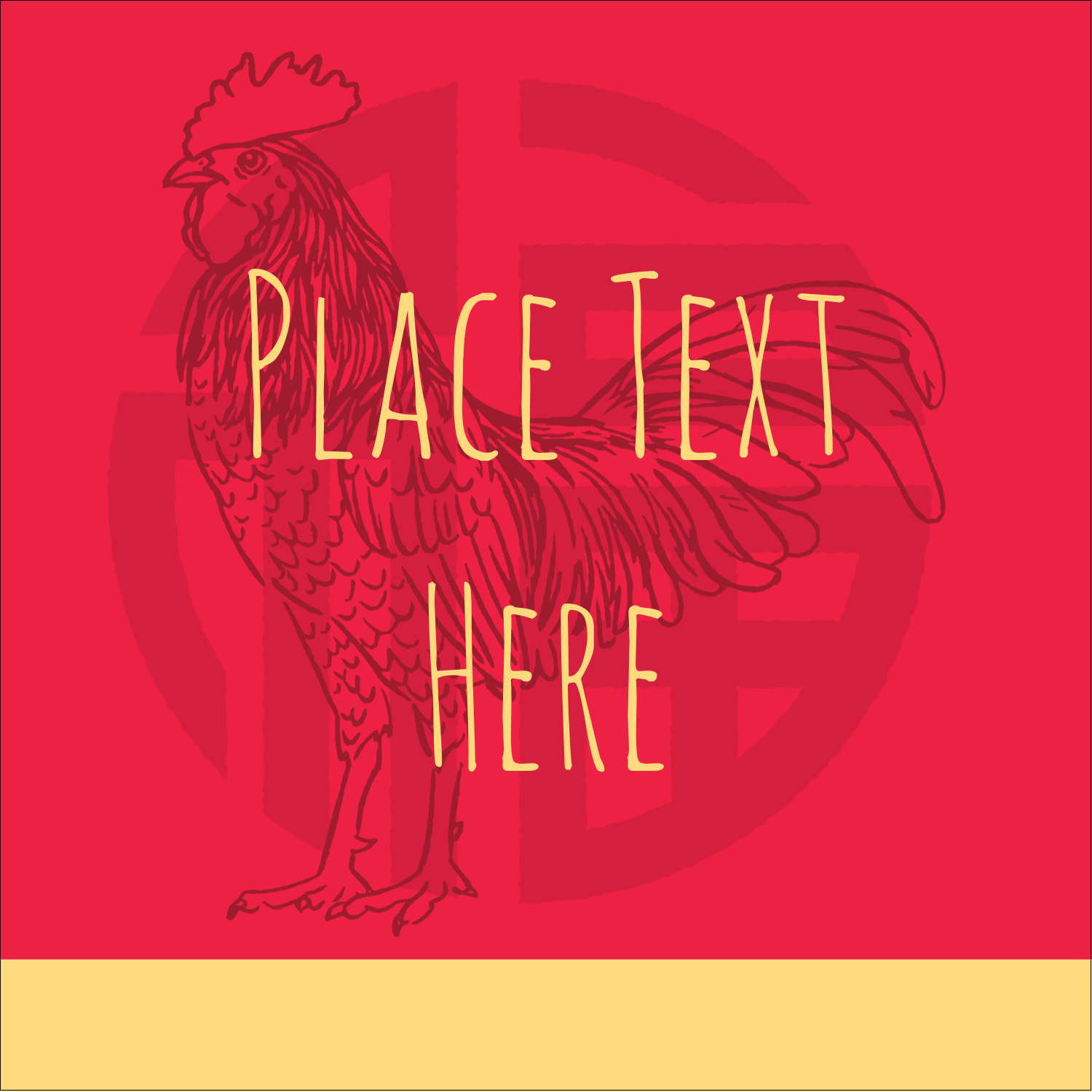 "2"" x 2"" Square Label - Year of the Rooster"