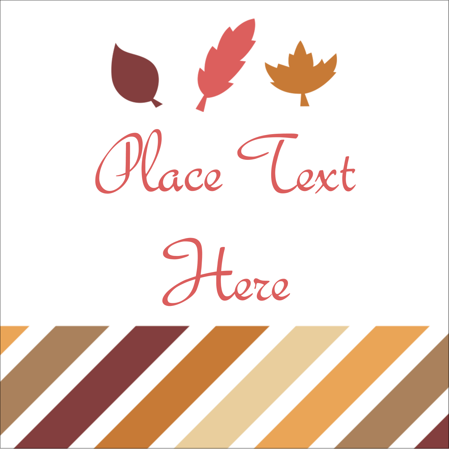 "2"" x 2"" Sqaure Label - Thanksgiving Fall Feathers"