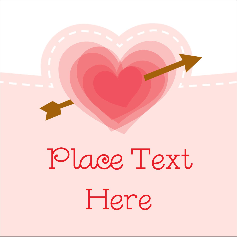 """2"""" x 2"""" Sqaure Label - Valentine's Day"""