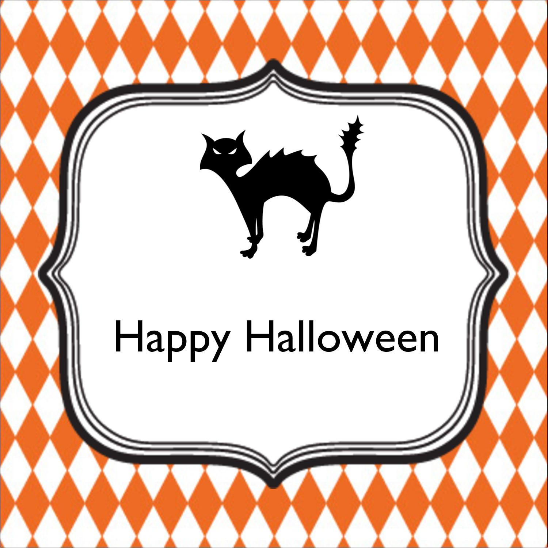 "2"" x 2"" Sqaure Label - Kiddie Halloween"