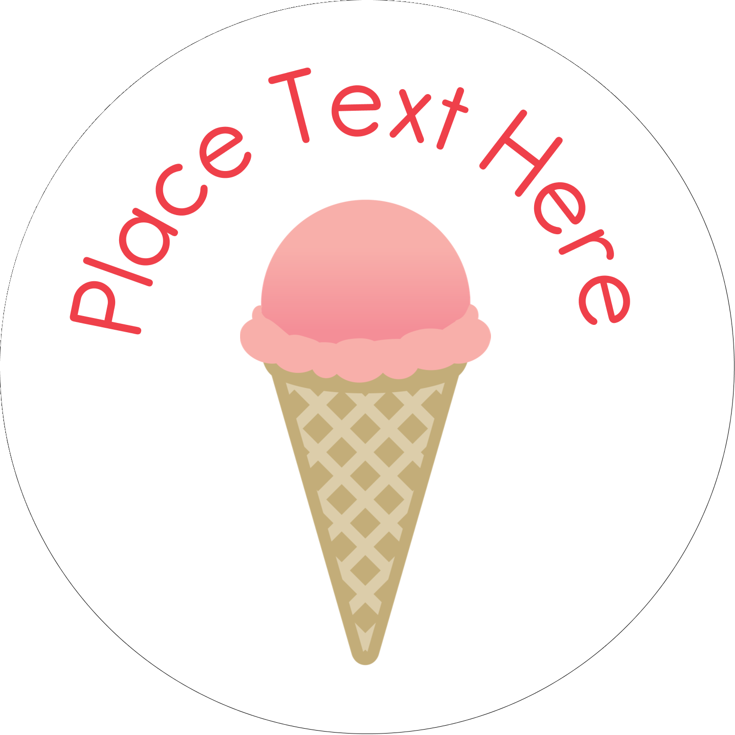 "2"" Round Label - Sweet Ice Cream"