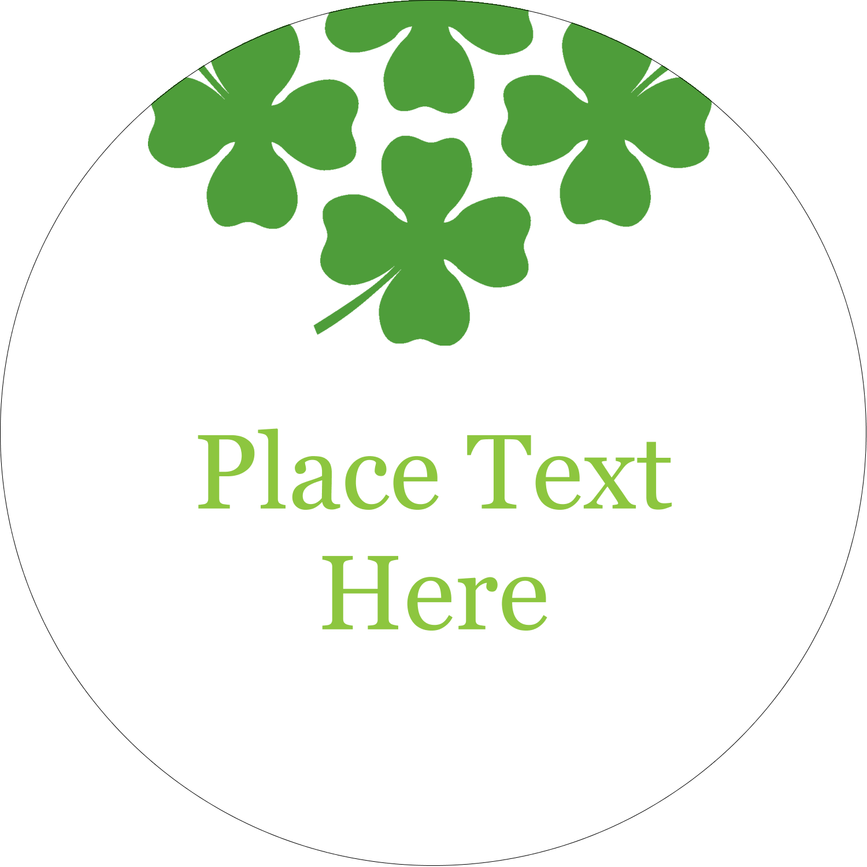 "2½"" Round Label - St. Patrick"