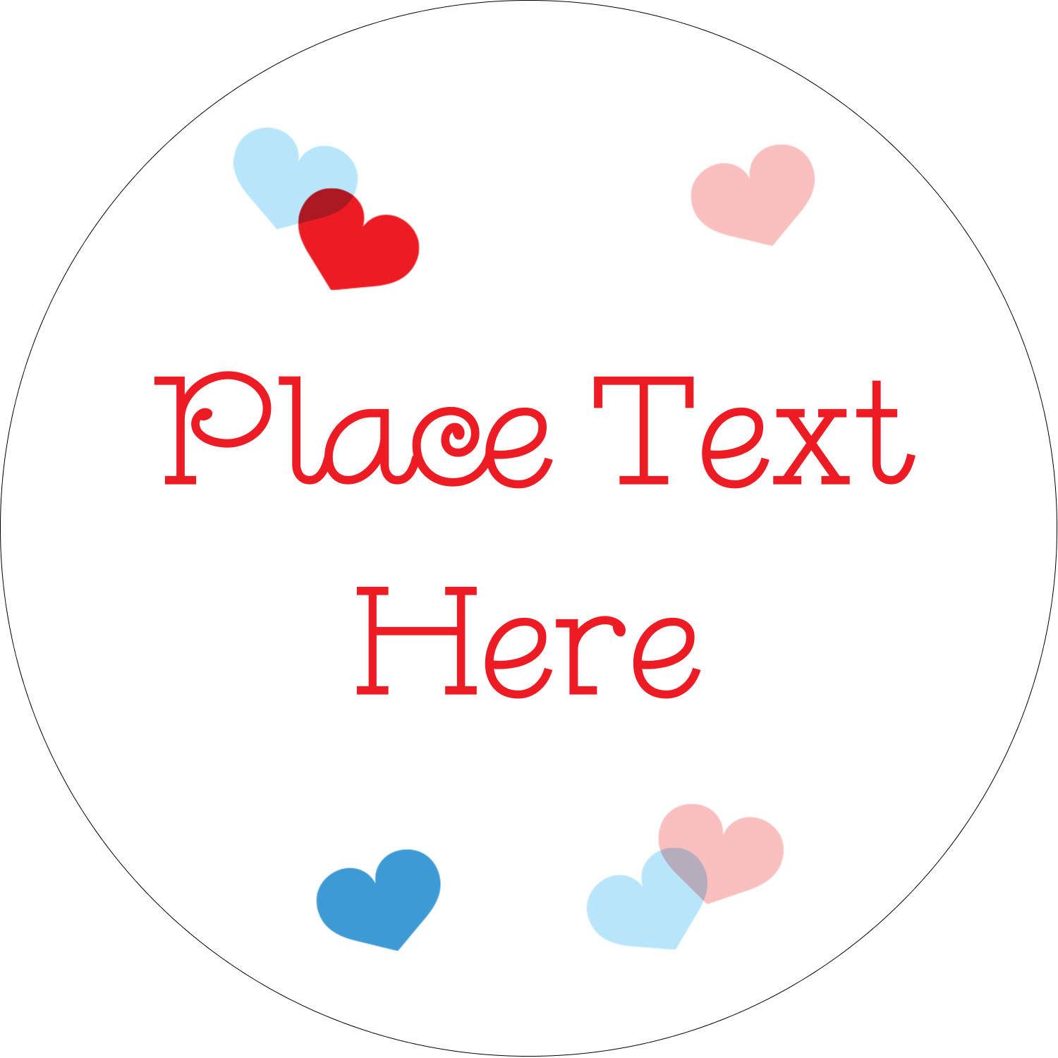 "2½"" Round Label - Valentine's Day"