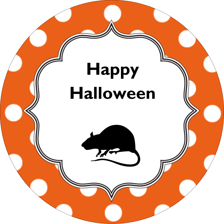 """2½"""" Round Label - Kiddie Halloween"""