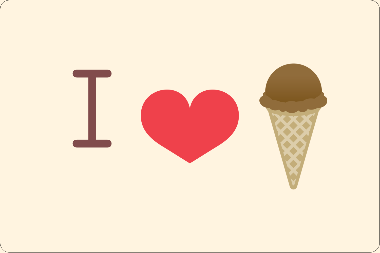 "2"" x 3"" Rectangular Label - Sweet Ice Cream"