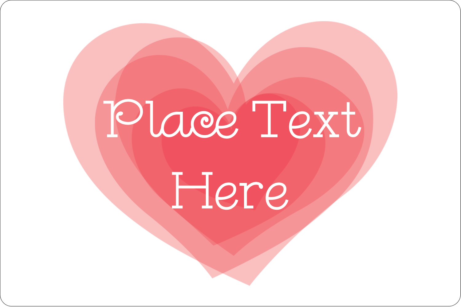 "2"" x 3"" Rectangular Label - Valentine's Day"
