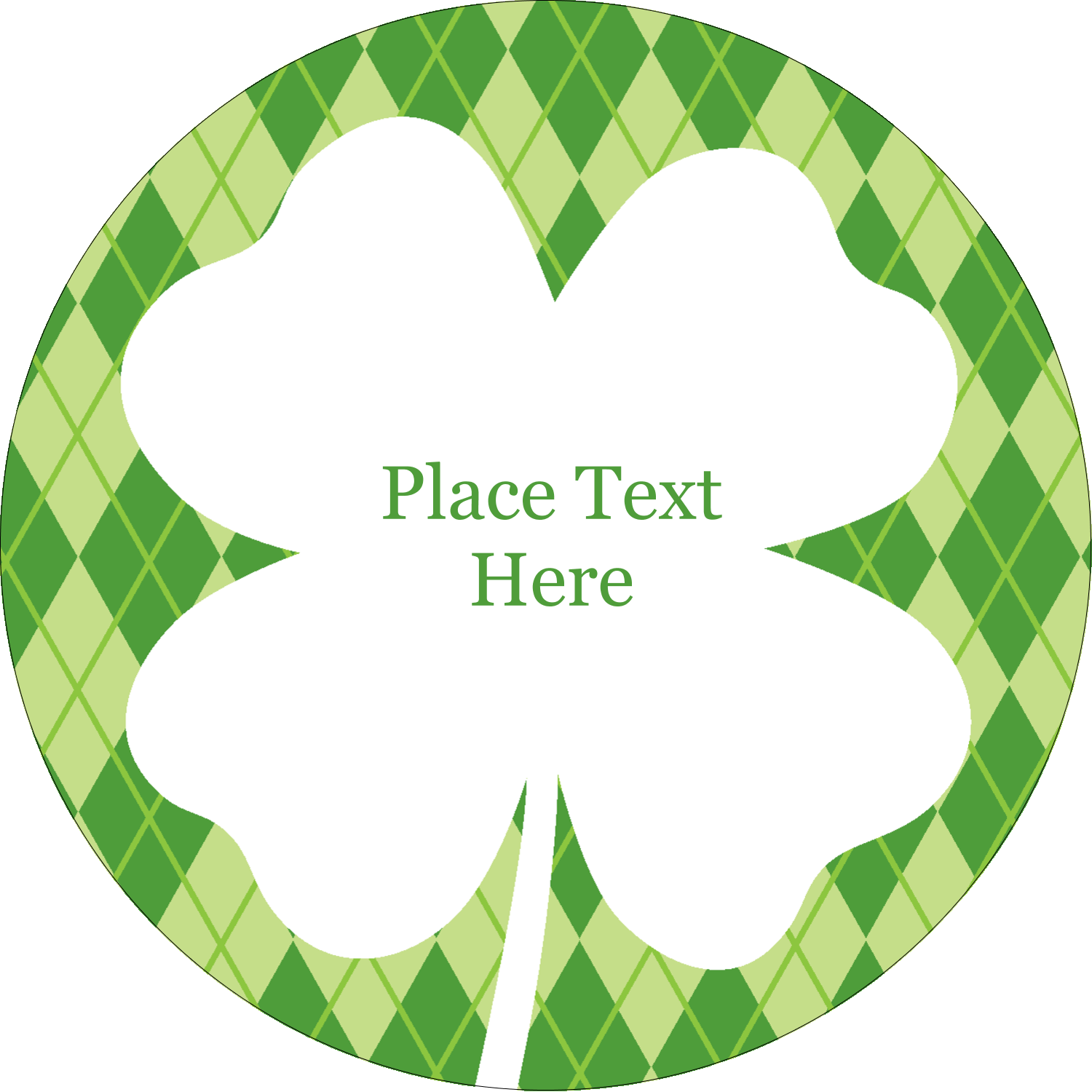 "2"" Embossed Round Label - St. Patrick"