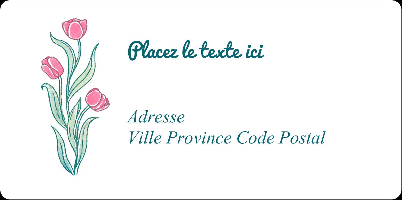 Fleurs picturales Étiquettes de classement écologiques - gabarit prédéfini. <br/>Utilisez notre logiciel Avery Design & Print Online pour personnaliser facilement la conception.