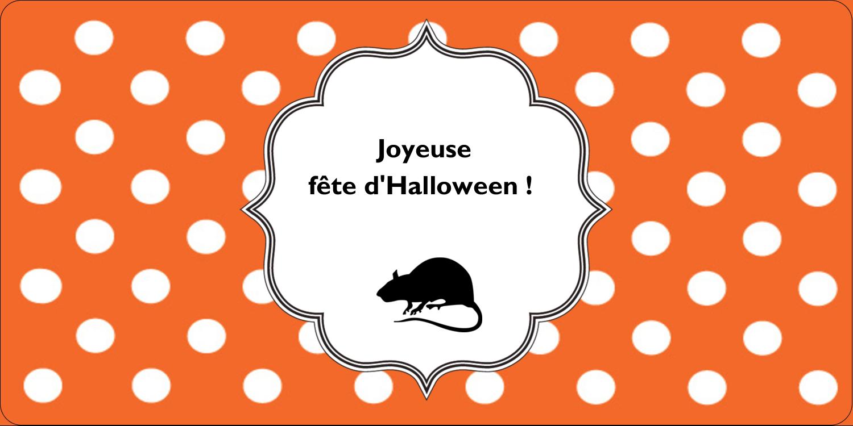 """3-7/16"""" x ⅔"""" Étiquettes de classement écologiques - Halloween d'enfant"""