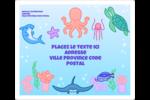 Au cœur de l'océan Étiquettes D'Adresse - gabarit prédéfini. <br/>Utilisez notre logiciel Avery Design & Print Online pour personnaliser facilement la conception.