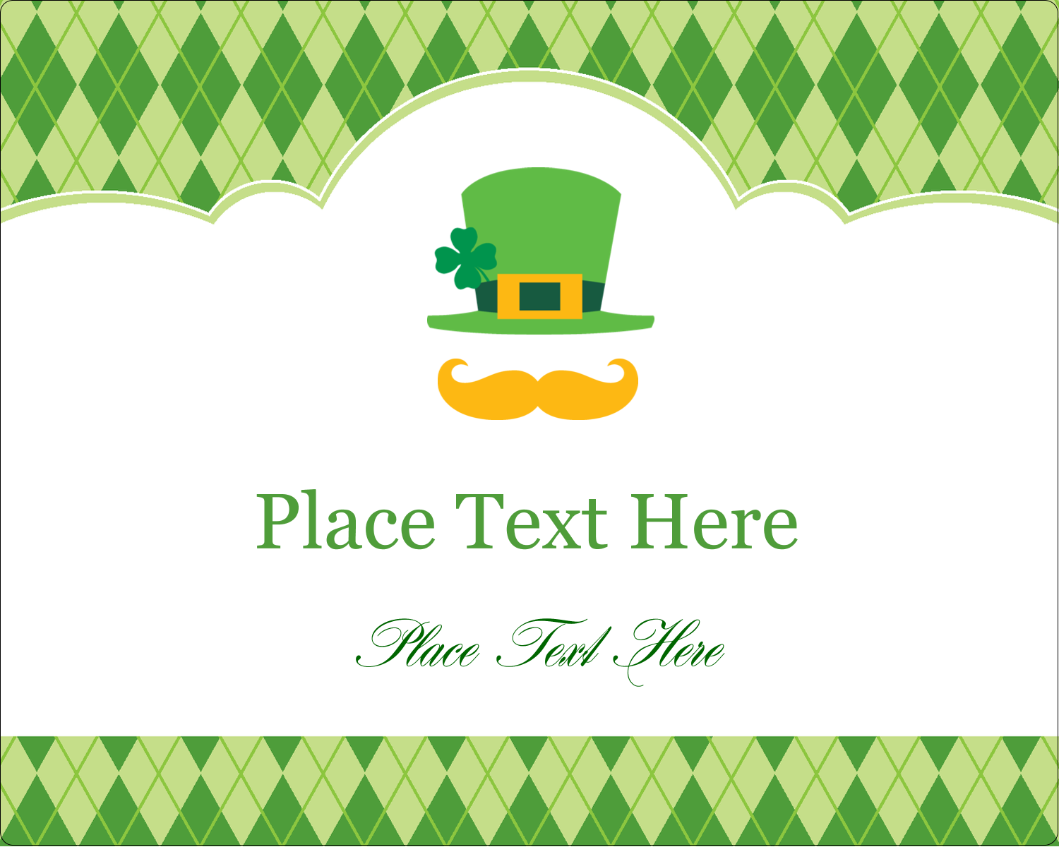 "3"" x 3¾"" Rectangular Label - St. Patrick"