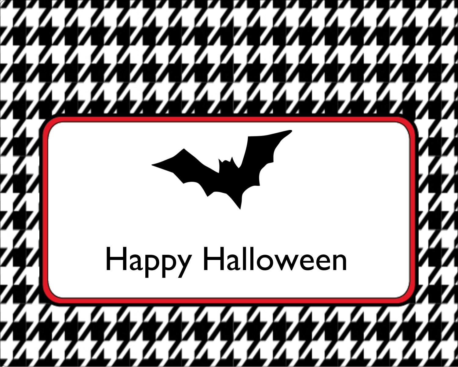 "3"" x 3¾"" Rectangular Label - Kiddie Halloween"