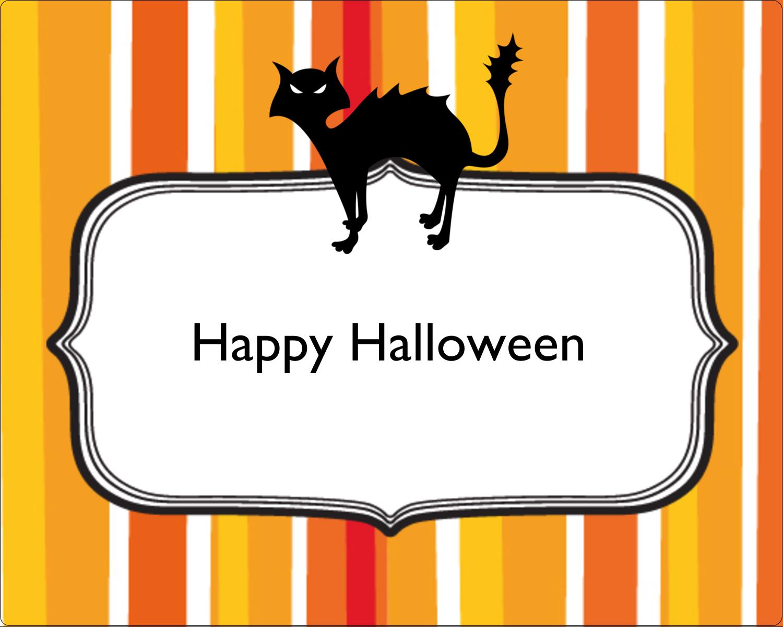 "3"" x 3¾"" Rectangular Label - Kiddie Halloween"