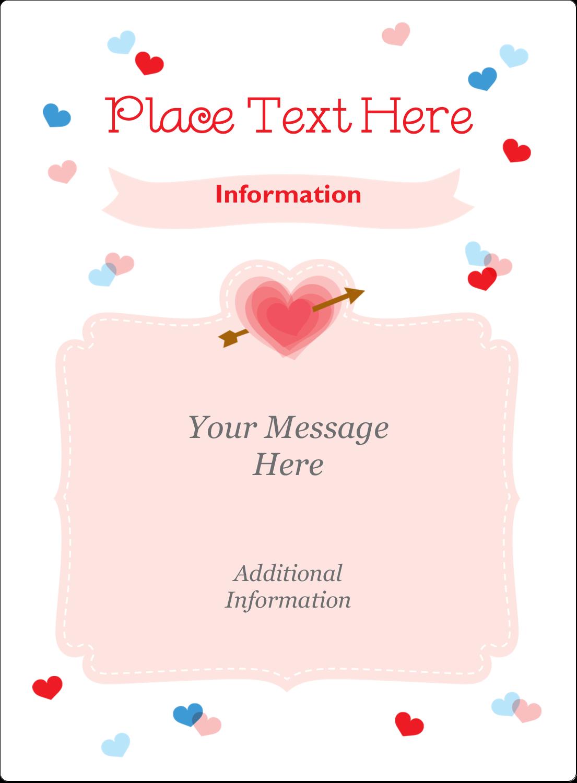 "4¾"" x 3½"" Rectangular Label - Valentine's Day"