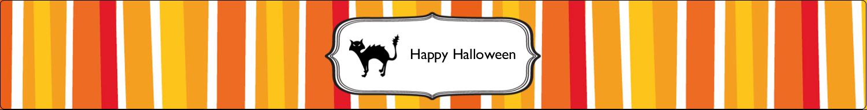 """9¾"""" x 1¼"""" Wraparound Label - Kiddie Halloween"""