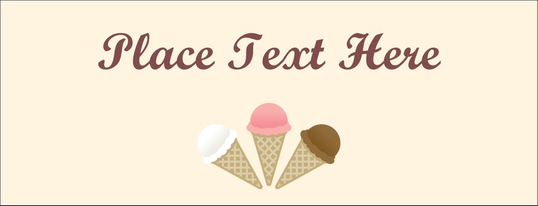 "1-7/16"" x 3¾"" Tent Card - Sweet Ice Cream"