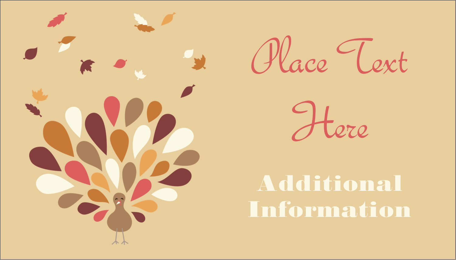 """2"""" x 3½"""" Business Card - Thanksgiving Fall Feathers"""