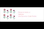 Fleurs délicates Intercalaires / Onglets - gabarit prédéfini. <br/>Utilisez notre logiciel Avery Design & Print Online pour personnaliser facilement la conception.
