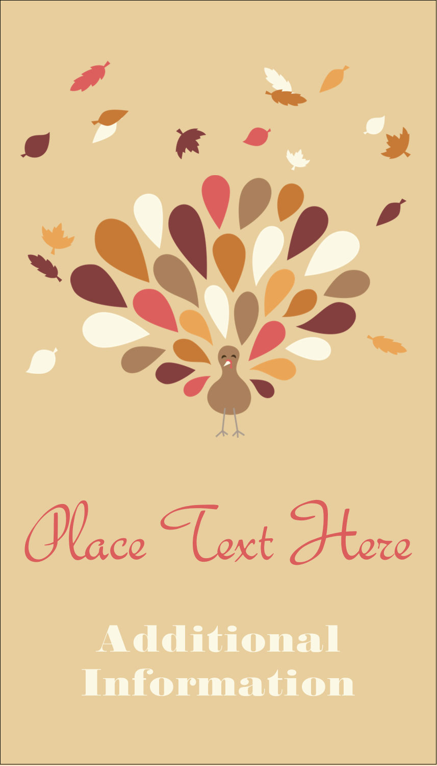 "3½"" x 2"" Business Card - Thanksgiving Fall Feathers"