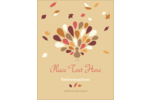Bring fall style to projects with pre-designed Thanksgiving Fall Feathers templates.