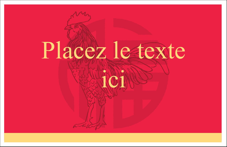 """8½"""" x 11"""" Cartes Et Articles D'Artisanat Imprimables - Année du coq"""
