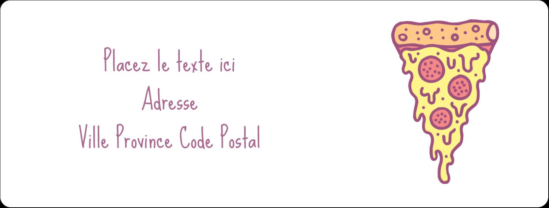 """1"""" x 4"""" Étiquettes d'adresse - Malbouffe Motif"""