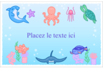 Au cœur de l'océan Cartes Et Articles D'Artisanat Imprimables - gabarit prédéfini. <br/>Utilisez notre logiciel Avery Design & Print Online pour personnaliser facilement la conception.