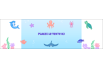 Au cœur de l'océan Affichette - gabarit prédéfini. <br/>Utilisez notre logiciel Avery Design & Print Online pour personnaliser facilement la conception.