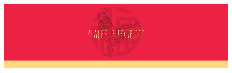 """4¼"""" x 5½"""" Cartes de notes - Année du coq"""