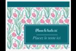 Fleurs picturales Cartes Et Articles D'Artisanat Imprimables - gabarit prédéfini. <br/>Utilisez notre logiciel Avery Design & Print Online pour personnaliser facilement la conception.