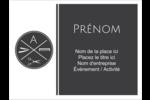 Trousse de toilette Badges - gabarit prédéfini. <br/>Utilisez notre logiciel Avery Design & Print Online pour personnaliser facilement la conception.