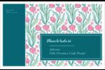 Fleurs picturales Étiquettes d'adresse - gabarit prédéfini. <br/>Utilisez notre logiciel Avery Design & Print Online pour personnaliser facilement la conception.