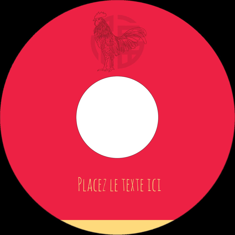 """⅔"""" x 3-7/16"""" Étiquettes de classement - Année du coq"""