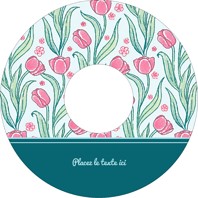 Fleurs picturales Étiquettes de classement - gabarit prédéfini. <br/>Utilisez notre logiciel Avery Design & Print Online pour personnaliser facilement la conception.