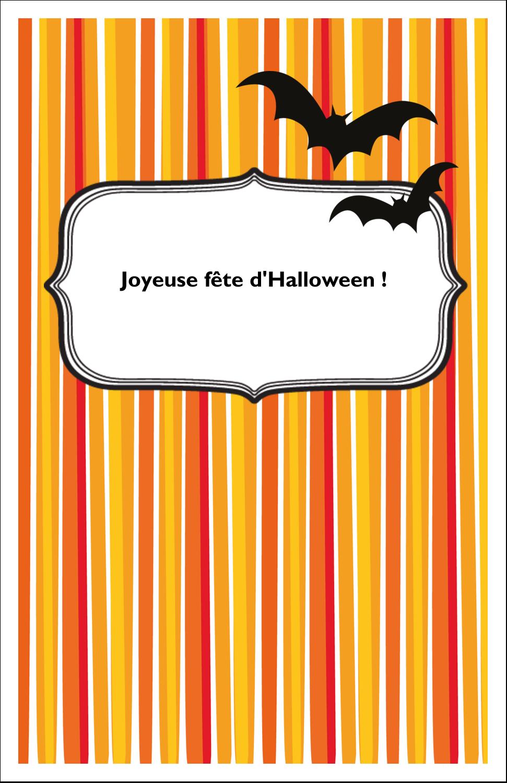 """8½"""" x 11"""" Binder Insert Reliures - Halloween d'enfant"""