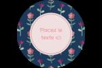 Fleurs délicates Étiquettes Voyantes - gabarit prédéfini. <br/>Utilisez notre logiciel Avery Design & Print Online pour personnaliser facilement la conception.