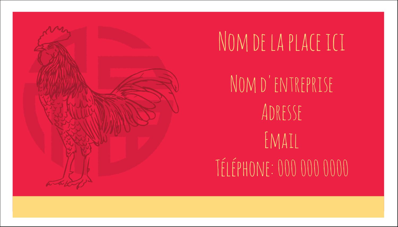 """3"""" x 5"""" Cartes Pour Le Bureau - Année du coq"""