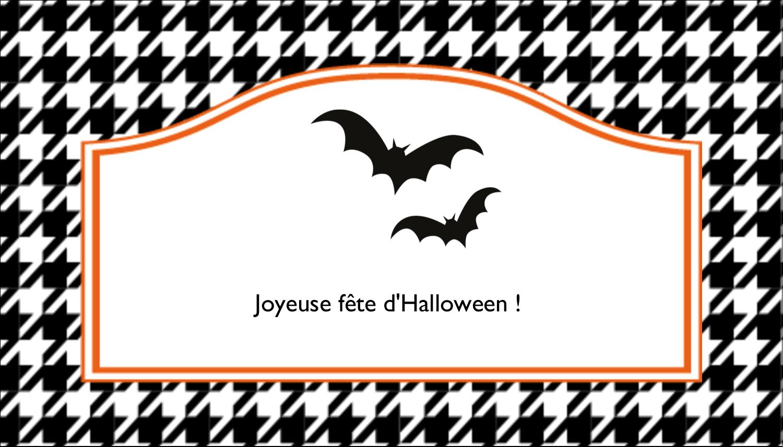 """2"""" x 3½"""" Carte d'affaire - Halloween d'enfant"""