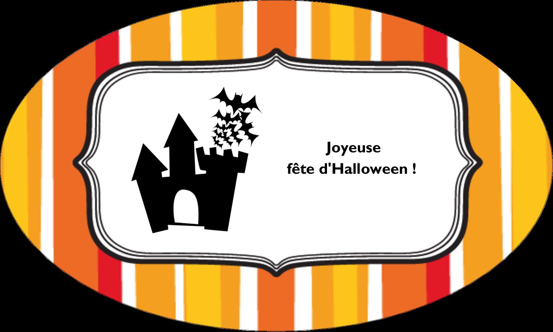 """1½"""" x 1½"""" Étiquettes carrées - Halloween d'enfant"""