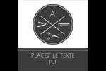 Trousse de toilette Étiquettes carrées - gabarit prédéfini. <br/>Utilisez notre logiciel Avery Design & Print Online pour personnaliser facilement la conception.