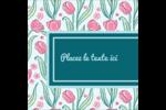 Fleurs picturales Étiquettes carrées - gabarit prédéfini. <br/>Utilisez notre logiciel Avery Design & Print Online pour personnaliser facilement la conception.