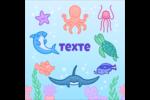 Au cœur de l'océan Étiquettes enveloppantes - gabarit prédéfini. <br/>Utilisez notre logiciel Avery Design & Print Online pour personnaliser facilement la conception.