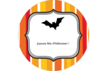 Halloween d'enfant Étiquettes rondes - gabarit prédéfini. <br/>Utilisez notre logiciel Avery Design & Print Online pour personnaliser facilement la conception.