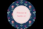 Fleurs délicates Étiquettes rondes - gabarit prédéfini. <br/>Utilisez notre logiciel Avery Design & Print Online pour personnaliser facilement la conception.