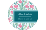 Fleurs picturales Étiquettes rondes - gabarit prédéfini. <br/>Utilisez notre logiciel Avery Design & Print Online pour personnaliser facilement la conception.